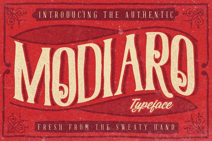 Thumbnail for Modiaro vintage branding logo font