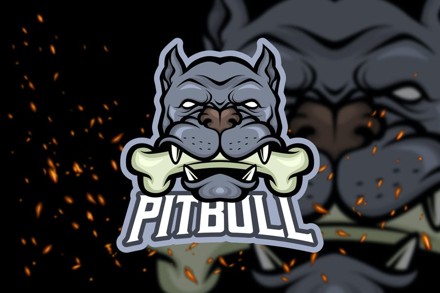 Pitbull Head - eSport Logo Template