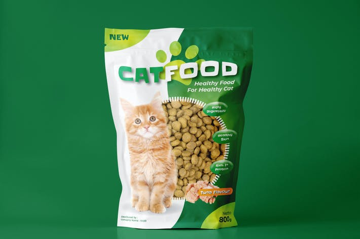 Thumbnail for Cat Food Design Template
