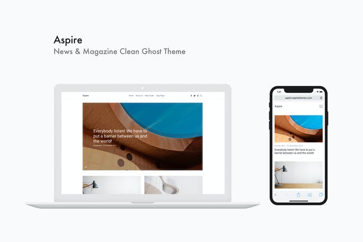 Thumbnail for Aspire - News & Magazine Clean Ghost Theme