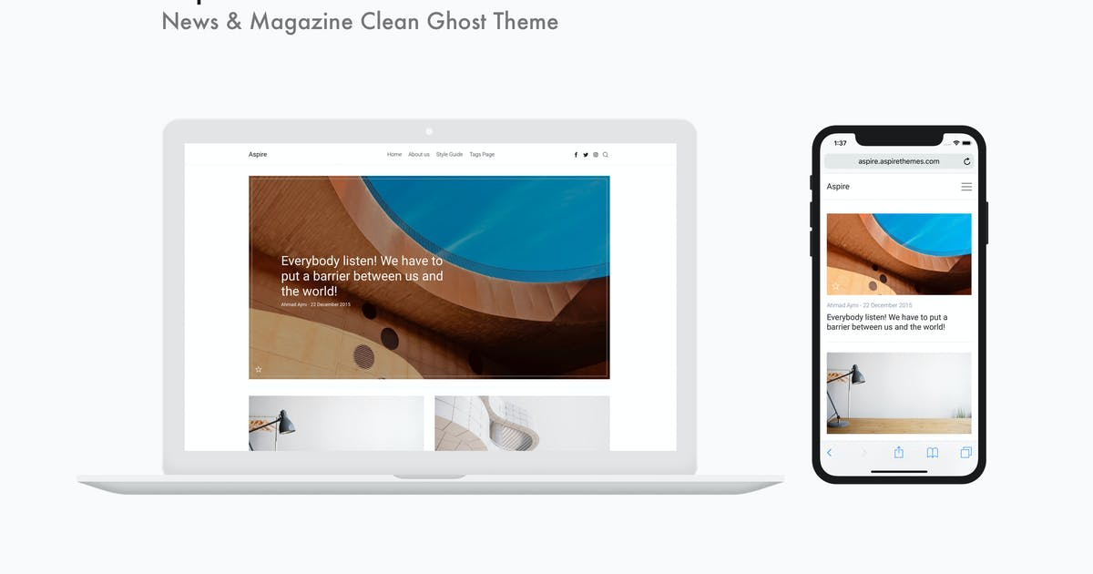 Download Aspire - News & Magazine Clean Ghost Theme by aspirethemes
