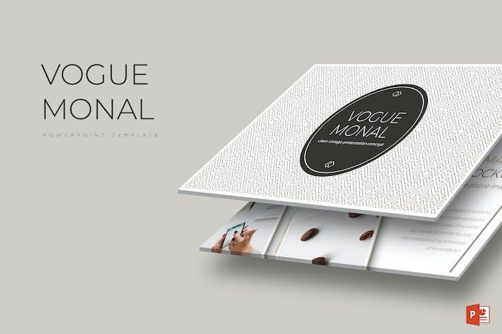Cover Image For Моде Мональ - Powerpoint Шаблон