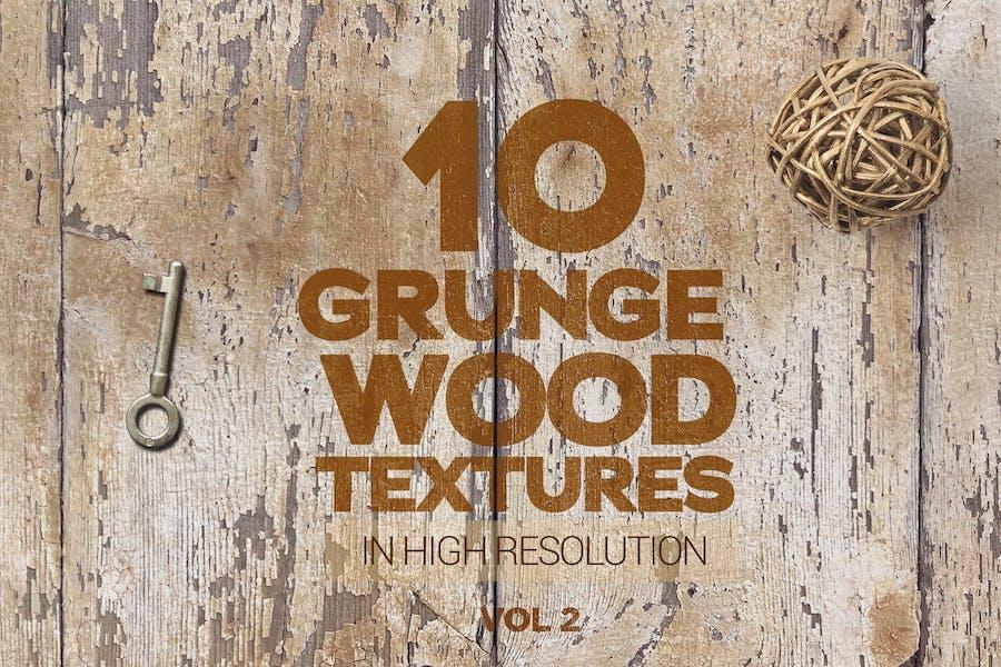 Grunge Wood Textures x10 Vol 2