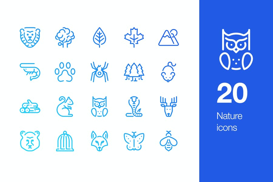 20 Nature icons