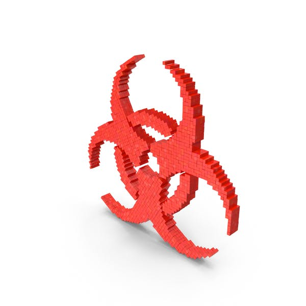 Знак опасности Biohazard Voxel