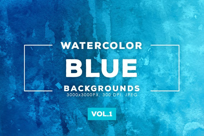 Thumbnail for Blue Watercolor Backgrounds Vol.1