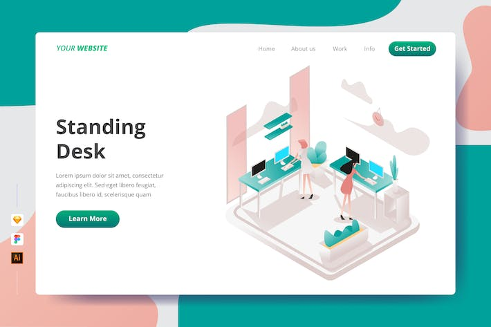 Thumbnail for Standing Desk - Landing Page
