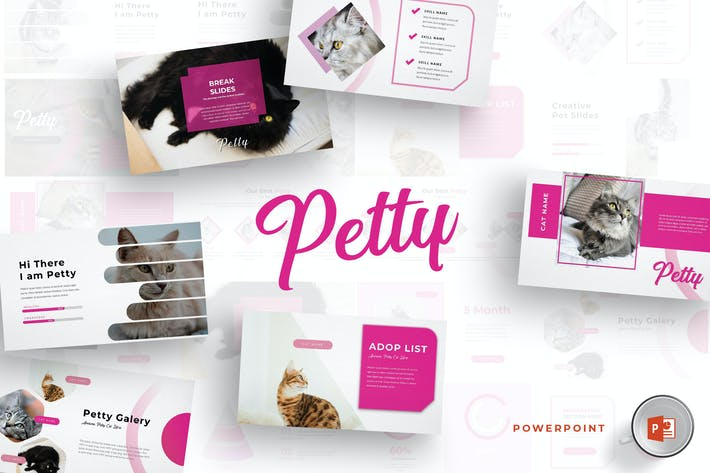 Thumbnail for Petty - Powerpoint Template
