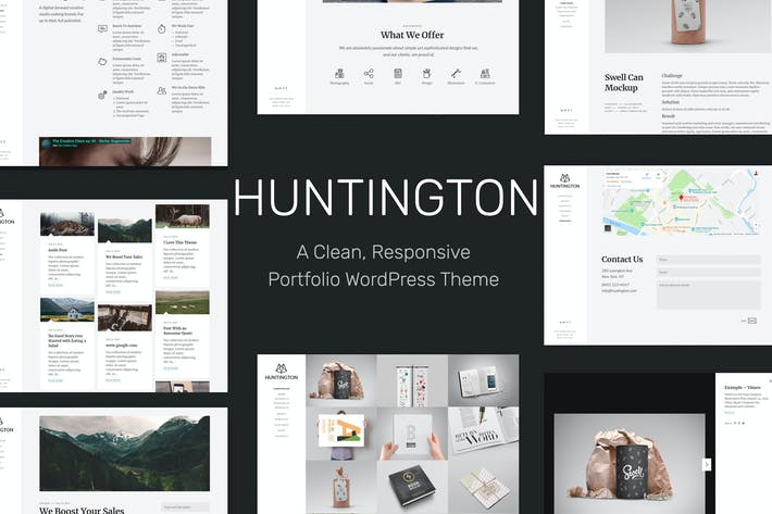 Cover Image For Huntington – Responsive Portfolio WordPress Theme