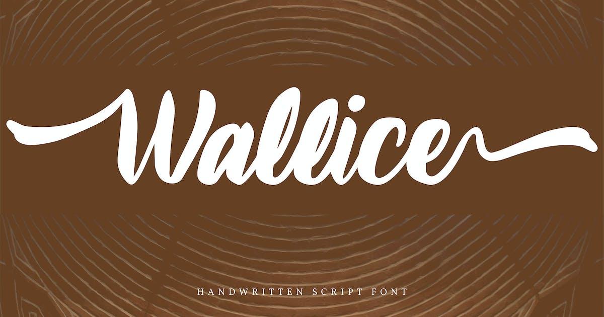 Download Wallice | Handwritten Script Font by Vunira