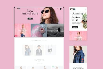 Zyra - El Tema Limpio, Minimal Shopify