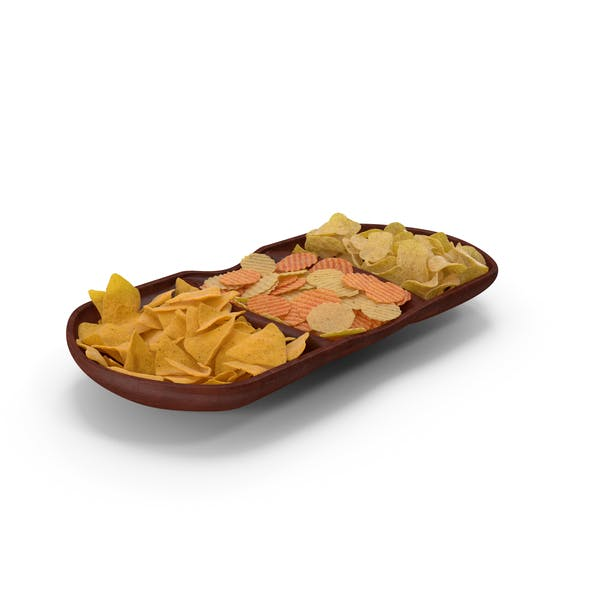 Compartment Bowl with Mixed Salty Chips Snacks