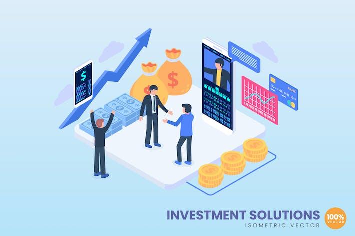 Investitionen Lösungen Illustration Konzept