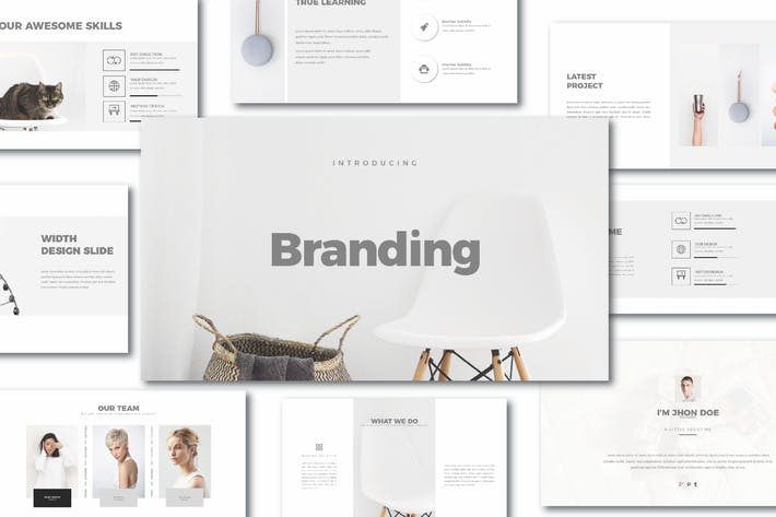 Download 103 brand guidelines templates envato elements brand agancy powerpoint template toneelgroepblik Gallery