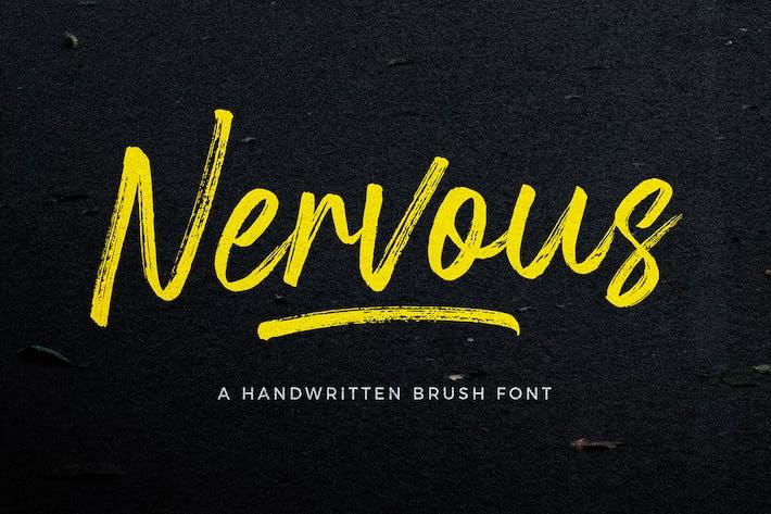 Thumbnail for Nervous Brush Font