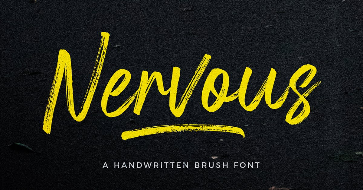 Download Nervous Brush Font by trustha
