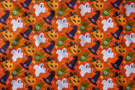 Halloween Scary Party Seamless Pattern