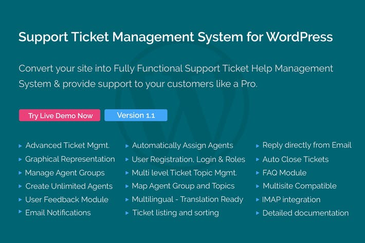 Thumbnail for Support Ticket Management System for WordPress