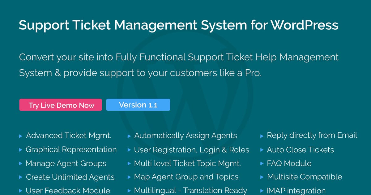 Download Support Ticket Management System for WordPress by themepassion