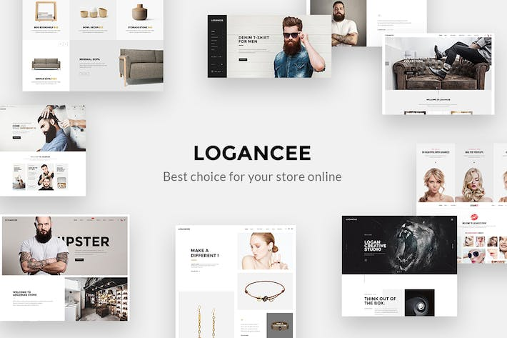 Thumbnail for Logancee - Mutilpurpose eCommerce PSD Template