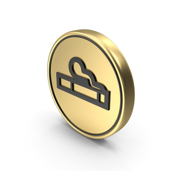 Smoking Coin Sign Icon Symbol