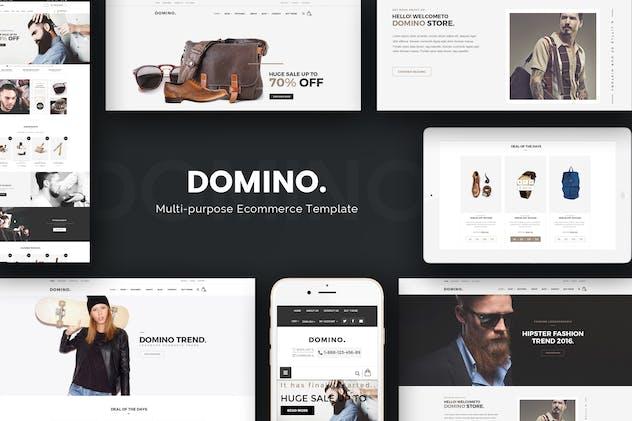Domino - Fashion Responsive Prestashop Theme - product preview 0