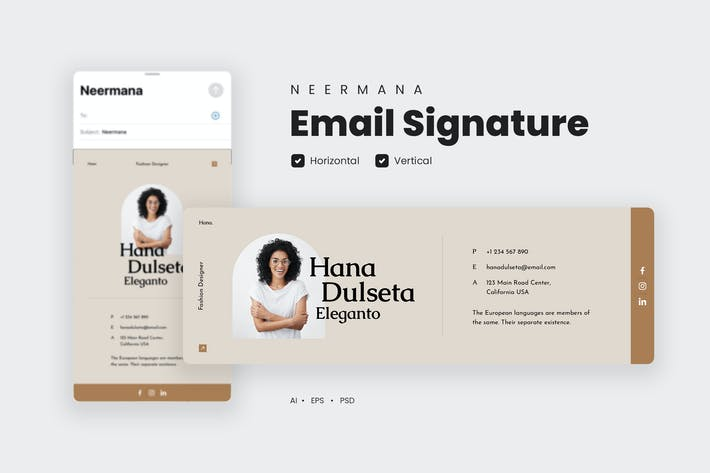 Email Signature Template V.31