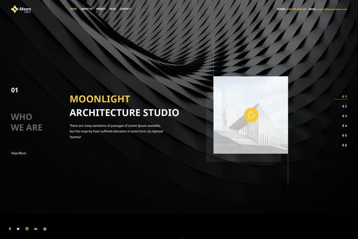 Thumbnail for Moonlight - PSD Template