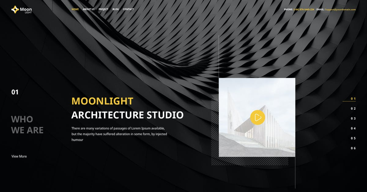 Download Moonlight - PSD Template by Unknow