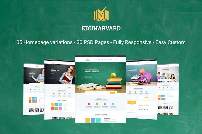 Thumbnail for Eduharvard - Multiconcept Education & Courses PSD