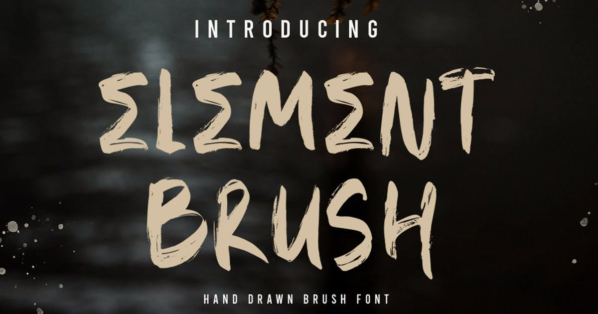 Download ELEMENT Brush Font by vultype