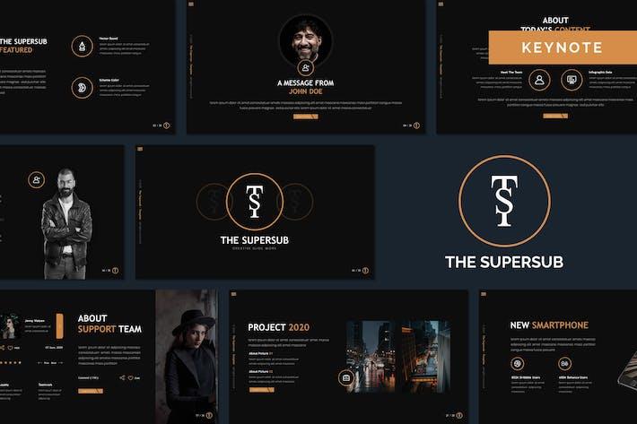 Supersub - креативный Шаблон Keynote