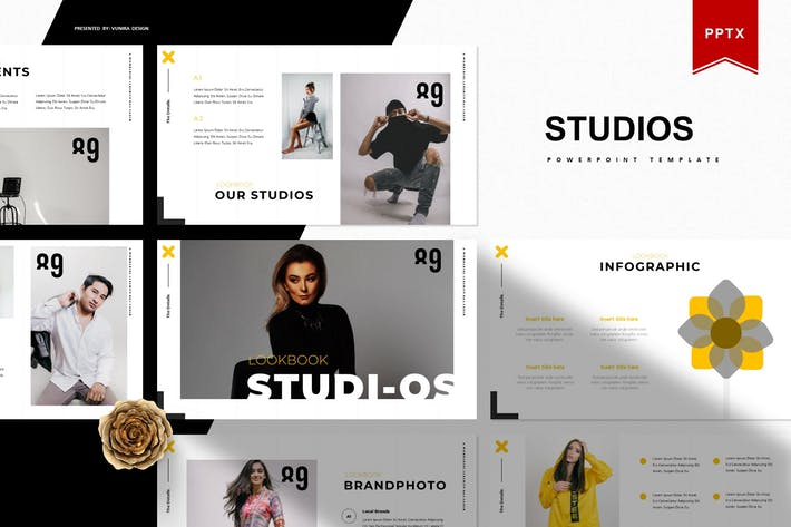 Thumbnail for Studios | Powerpoint Template