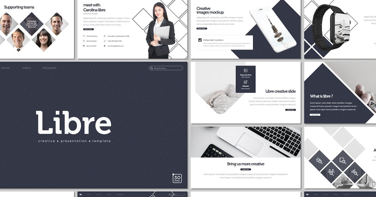 Download Libre - Keynote Template by inspirasign