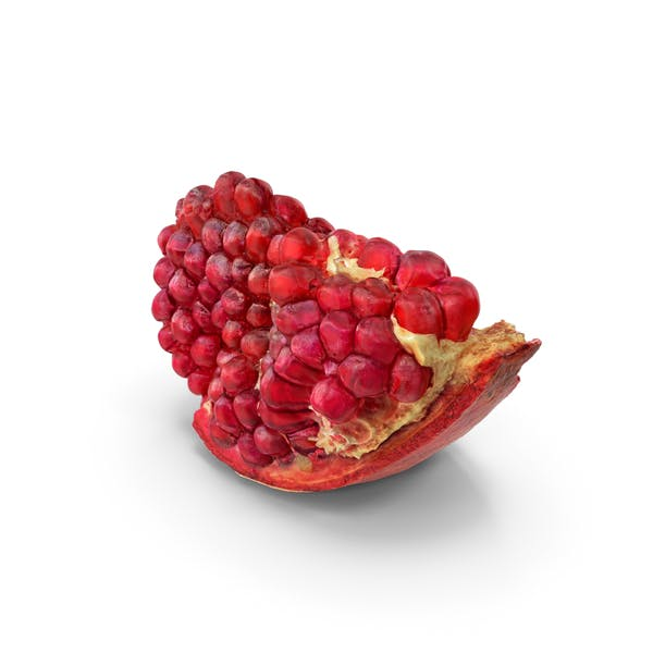 Realistic Piece of Pomegranate