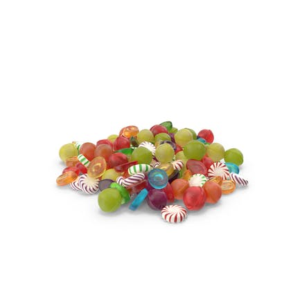 Pile of Mixed Hard Candy