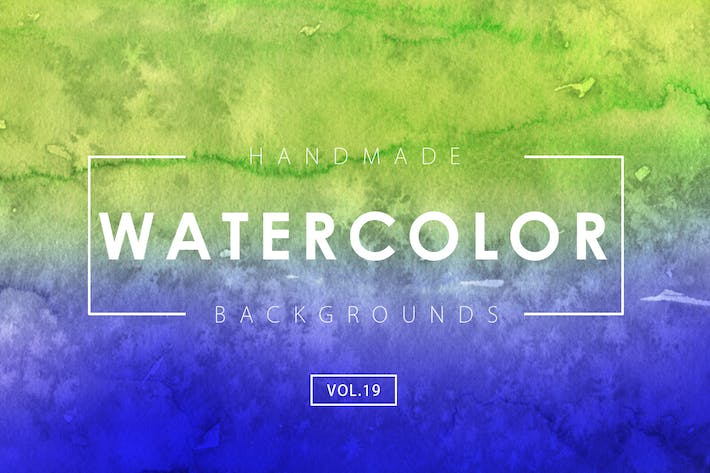 Cover Image For Handmade Watercolor Backgrounds Vol.19