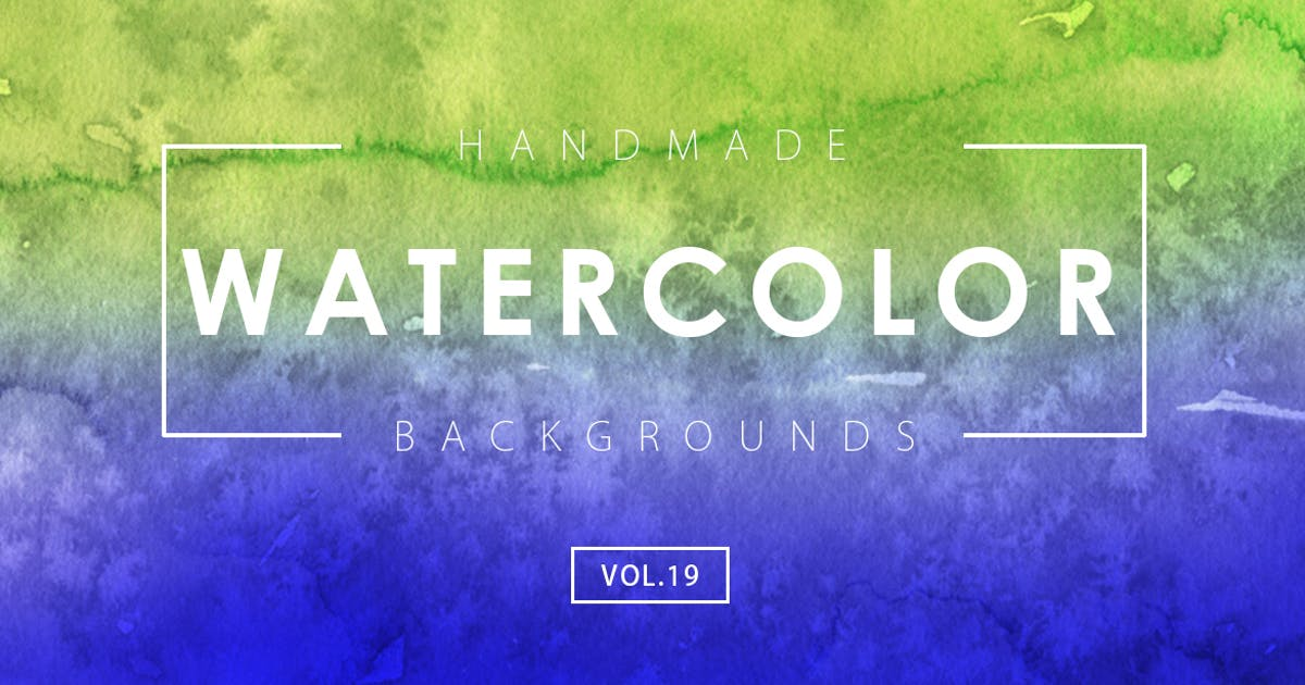 Download Handmade Watercolor Backgrounds Vol.19 by M-e-f