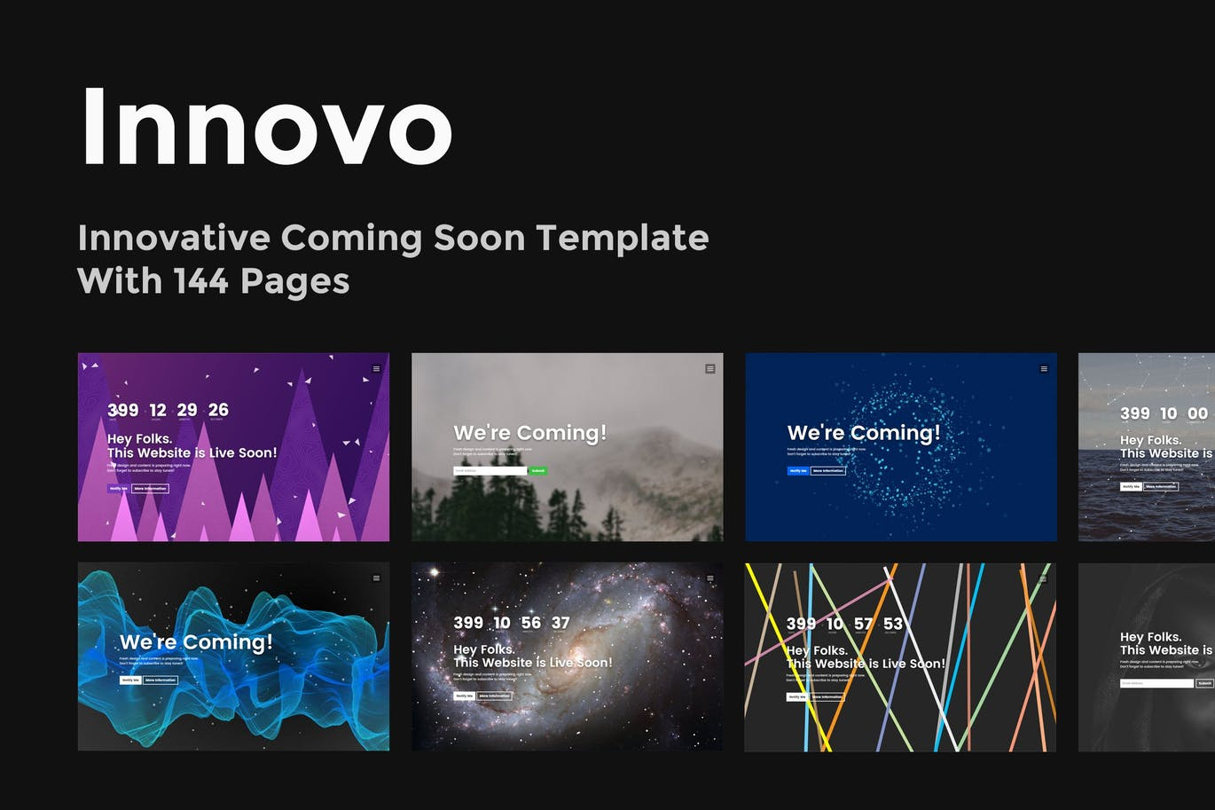 Innovo Innovative Coming Soon Template By Themestarz On Envato