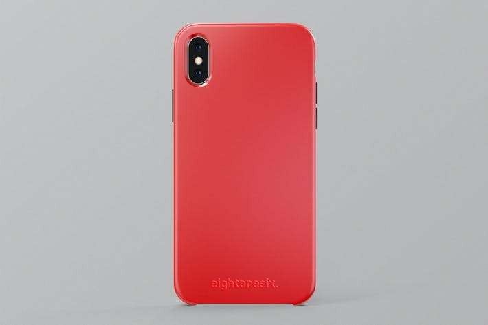 Thumbnail for iPhone X Silicone Case Mock-Up