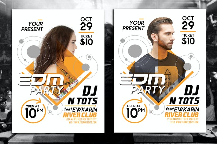 Thumbnail for EDM Party Flyer Template