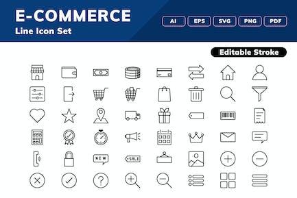 E-Commerce-Symbolsatz