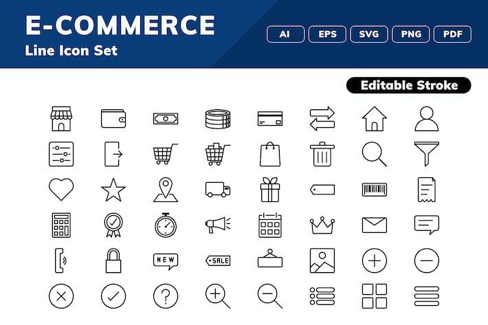 Thumbnail for Набор значков электронной коммерции