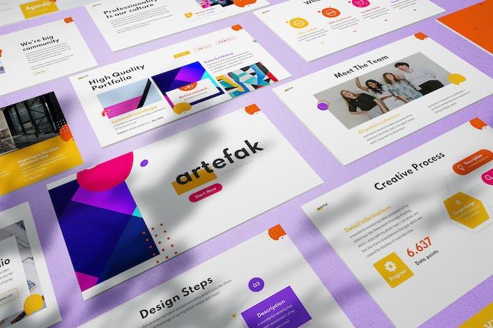 Artefak - Geometric Powerpoint Template