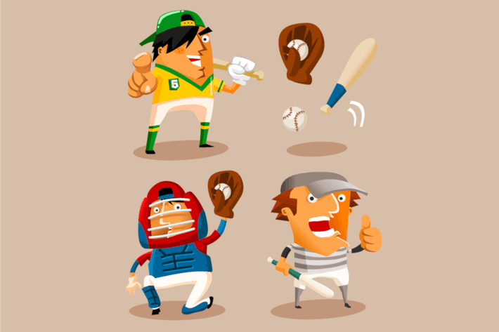 Thumbnail for Baseball Player. Detailed vector illustration