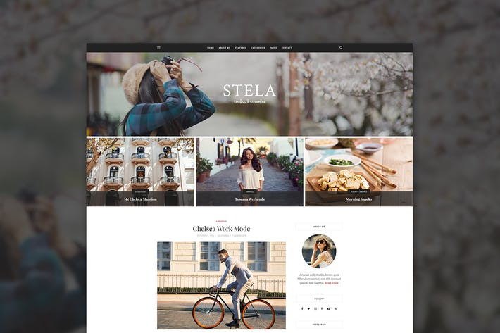 Thumbnail for Stela - Personal Blog Template