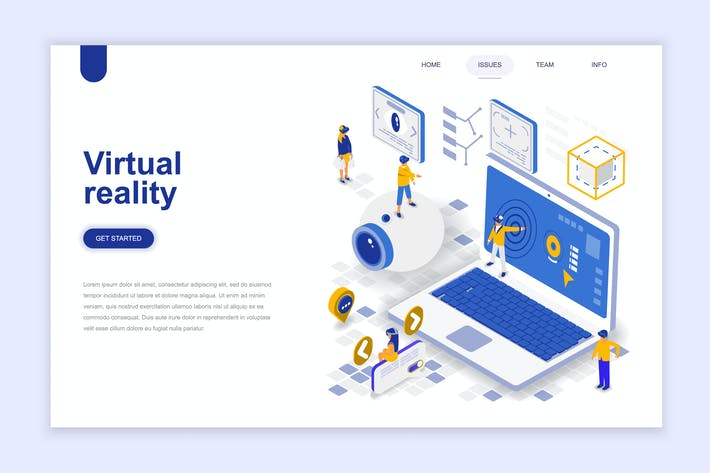 Thumbnail for Virtual Reality Isometric Landing Page