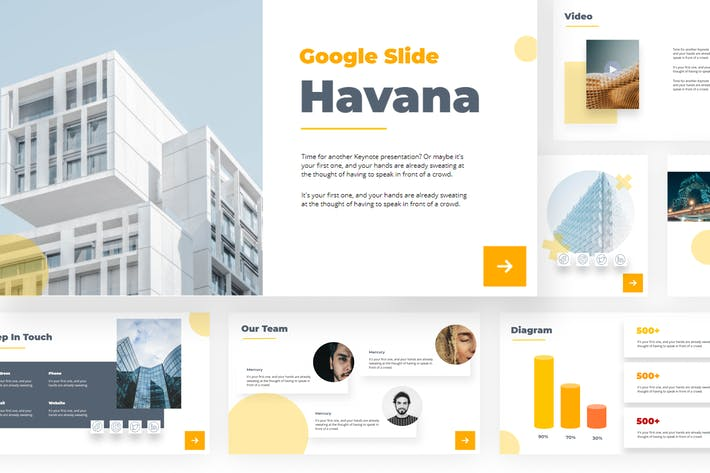 Havana - Google Slides Presentation Templates
