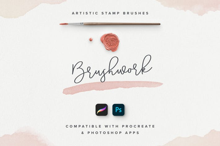 Cover Image For Brushwork: Artistic Procreate & Photoshop brushes