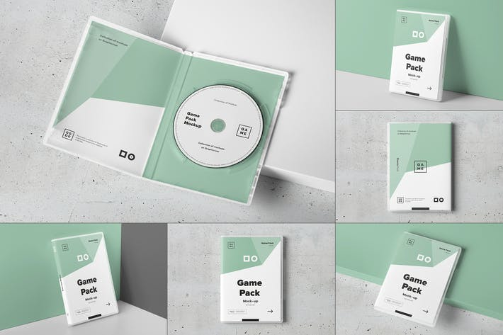 Game Disc Pack Mockup
